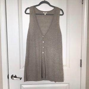 EILEEN FISHER • 100% Linen Knit Vest Cardigan